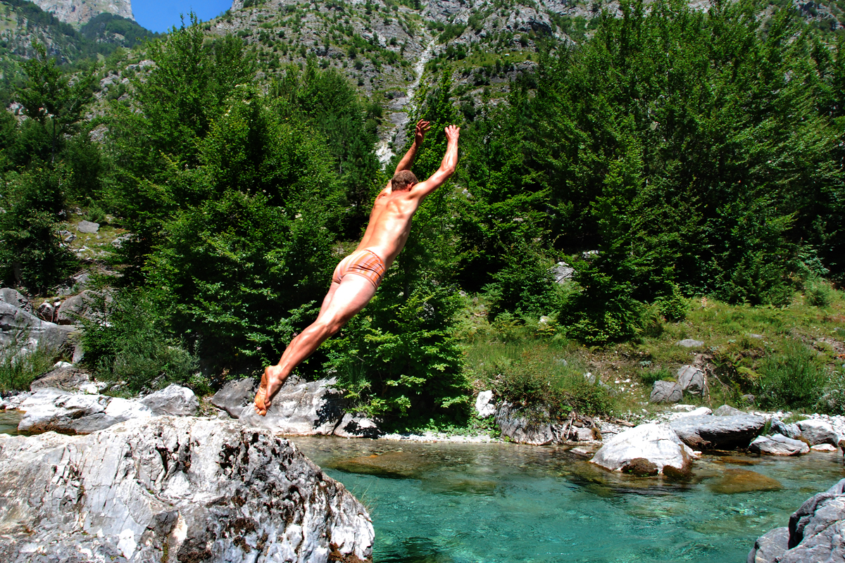 Valbone, Albania, Roadtrip, swimming